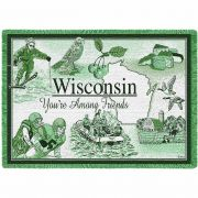 Wisconsin Blanket 48x69 inch