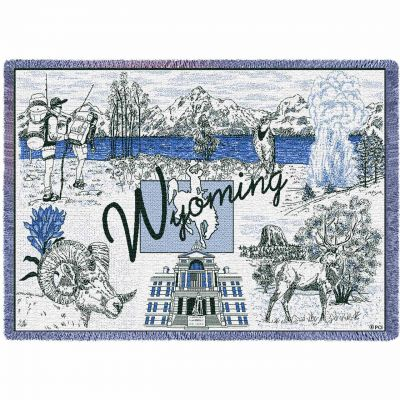 Wyoming Blanket 48x69 inch - 666576003342 - WY-A
