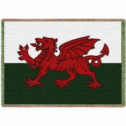 Welsh Dragon Blanket 48x69 inch