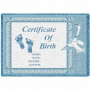 Birth Certificate Blue Small Blanket 48x35 inch