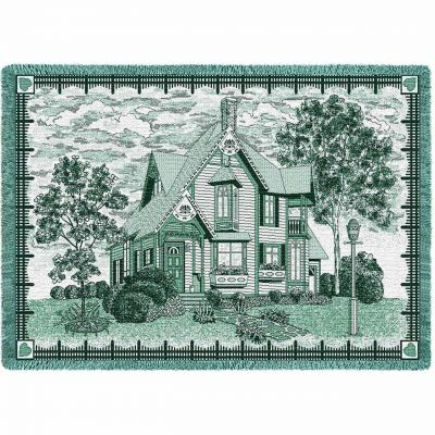 Victorian Blank Sign Hunter Blanket 48x69 inch - 666576013075 - 4499-A