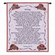 Warning Wall Tapestry 26x34 inch