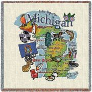 Michigan State Small Blanket 54x54 inch