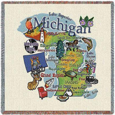 Michigan State Small Blanket 54x54 inch - 666576090243 - 3913-LS