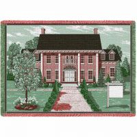 Colonial With Sign Blanket 48x69 inch