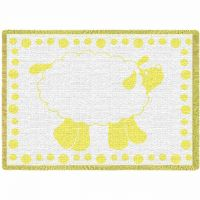 Baby Lamb Yellow Small Blanket 48x35 inch