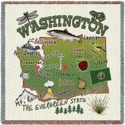 Washington State Small Blanket 54x54 inch