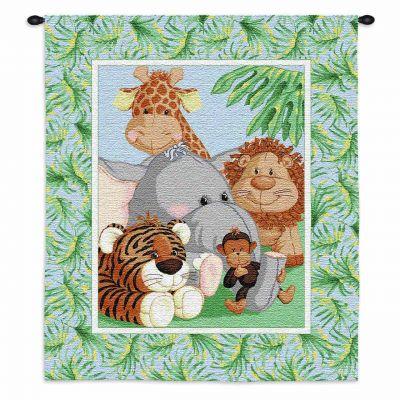 Stuffed Safari Wall Tapestry 26x31 inch - 666576117544 - 3283-WH