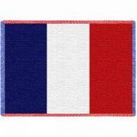 French Flag Blanket 48x69 inch