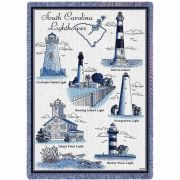 Lighthouses of South Carolina Blanket 48x69 inch