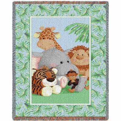 Stuffed Safari Mini Blanket 35x54 inch - 666576075486 - 3283-T
