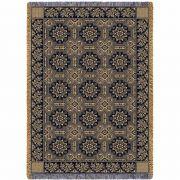 1845 Quilt Black Blanket 48x69 inch