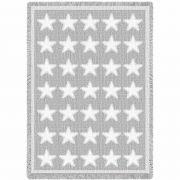 Stars White Natural Mini Blanket 48x35 inch