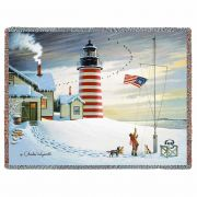 West Quoddy Lighthouse Blanket 54x70 inch