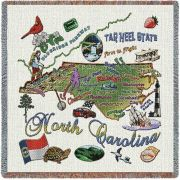 North Carolina State Small Blanket 54x54 inch