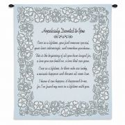 Wedding Embroidery Silver Wall Tapestry 26x32 inch