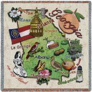 Georgia State Small Blanket 54x54 inch