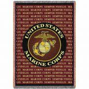 Marine Corps Semper Fidelis Blanket 48x69 inch