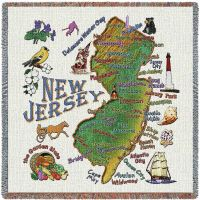 New Jersey State Small Blanket 54x54 inch