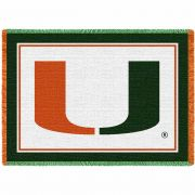 University of Miami Logo Stadium Blanket 48x69 inch