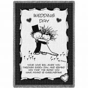 Wedding Day Blanket by Artist Marci 48x69 inch