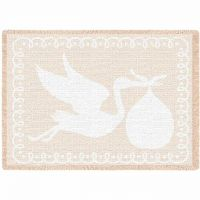 Stork Natural Small Blanket 48x35 inch