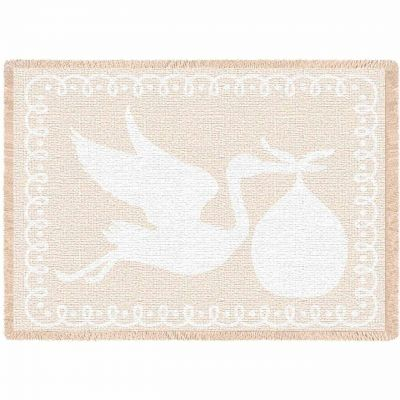 Stork Natural Small Blanket 48x35 inch - 666576105640 - 4412-A