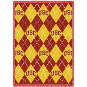 University of Southern California Argyle Stadium Blanket 48x69 inch