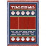 Volleyball Court Blanket 48x69 inch