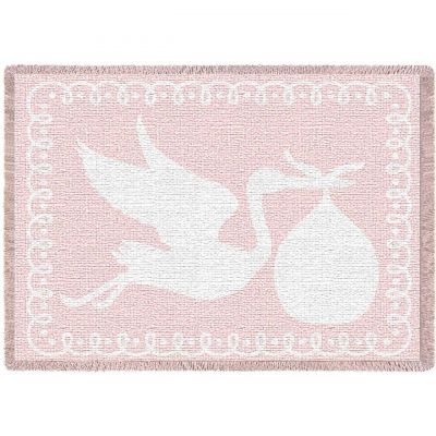 Stork Pink Small Blanket 48x35 inch - 666576098997 - 4368-A
