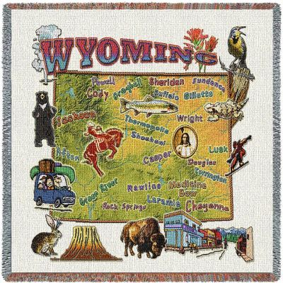Wyoming State Small Blanket 54x54 inch - 666576090748 - 3939-LS