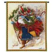 Windswept Santa Wall Tapestry 26x34 inch