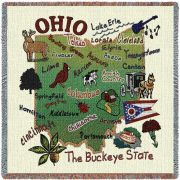 State Of Ohio Small Blanket 54x54 inch