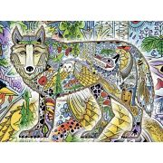 Wolf Blanket by Artist Sue Coccia 70x54 inch
