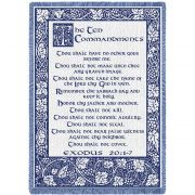 Ten Commandments Natural Blanket 48x69 inch