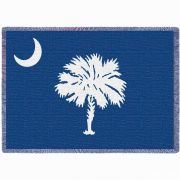South Carolina State Palmetto Moon Blue Flag Stadium Blanket 48x69 in.