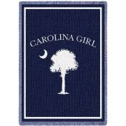 Carolina Girls Navy Small Blanket 48x35 inch