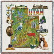 Utah State Small Blanket 54x54 inch