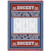 Hockey Field Blanket 48x69 inch