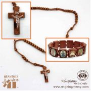 All Saints Braided Wooden Rosary Set Assorted Colors