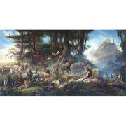"""The Gathering"" 3D Lenticular Art By Tom Dubois 12 x 24"