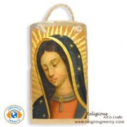 "Virgin de Guadalupe Spanish Tile Art 6.5"" x 3.5"""