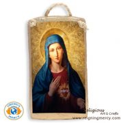 "Our Lady of Sorrows Spanish Tile Art 6.5"" x 3.5"""