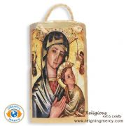 """Our Lady of Perpetual Help Spanish Tile Art 6.5"""" x 3.5"""""""