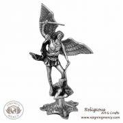 """Saint Michael the Archangel Pewter Statue 12"""""""