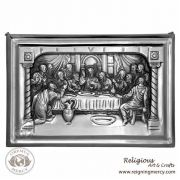 """The Last Supper Pewter Wall Plaque (11"""" x 16"""")"""