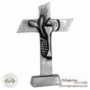 """1st Holy Communion Pewter Table Cross (8"""")"""