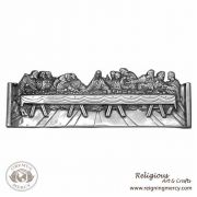"""The Last Supper Pewter Wall Plaque (21"""" x 7"""")"""