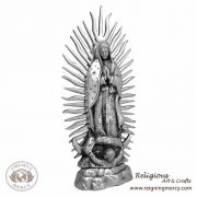 "Virgin de Guadalupe Pewter Statue (18"")"