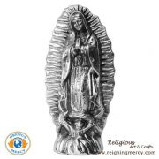 """Pewter Statue of Our Lady of Guadalupe 7.5"""""""